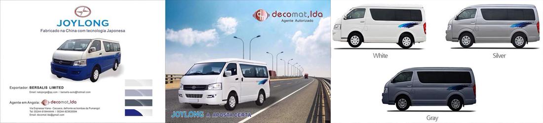 A Decomat Lda é agente Oficial JOYLONG autos.